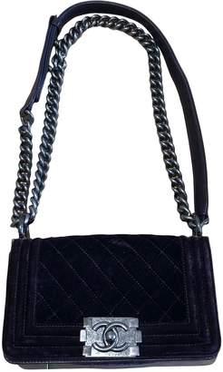 Chanel Boy Purple Velvet Handbags