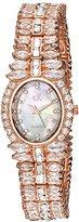 Adee Kaye Women's Quartz Brass Dress Watch, Color:Rose Gold-Toned (Model: AK9123-LRG)