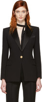 Balmain Black Single Button Blazer
