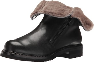 Gravati Women's Double Zip Ankle Boot with Shearling Lining