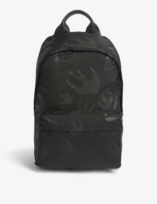 McQ Classic swallow print canvas backpack