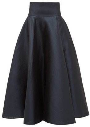 Ophelia Carl Kapp Structured Mikado Skirt - Womens - Navy