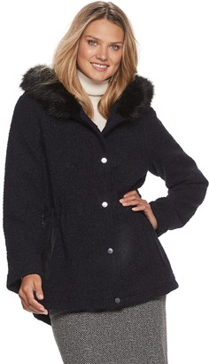 Details Women's Faux-Fur Hood Heavyweight Anorak Jacket