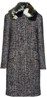 Miu Miu Boucle Tweed Coat