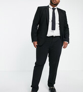 Asos Design DESIGN Plus super skinny suit trousers in four way stretch in black