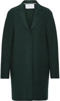 Harris Wharf London Cocoon Wool-felt Coat - Emerald