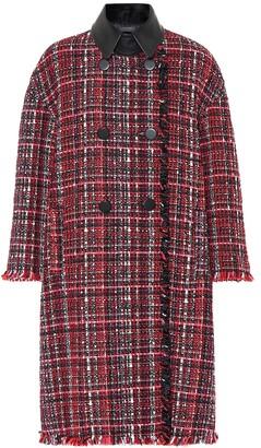 Alexander McQueen Tweed wool-blend coat