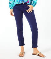 """Lilly Pulitzer 28"""" South Ocean Skinny Crop Lace Trim Pant"""