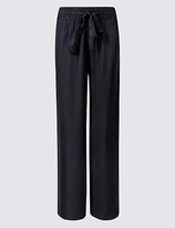M&S Collection Hammered Wide Leg Trousers