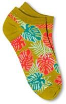 Xhilaration Women's Low Cut Fashion Socks Grassy Spring
