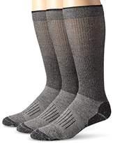 Wrangler Men's Fine Gauge Wool Blend Tall Boot Socks 3 Pair Pack
