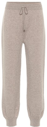 Agnona Cashmere and wool-blend trackpants