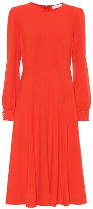 Tory Burch Pleated stretch-crApe dress