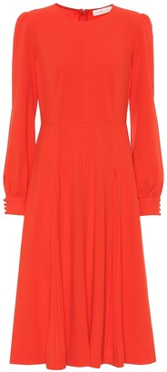 Tory Burch Pleated stretch-crepe dress