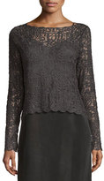 Nic+Zoe Brushed Lace Long-Sleeve Top, Petite