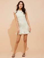 Halston Flounce skirt cotton dress
