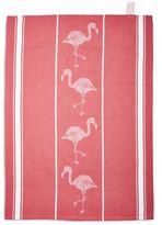 """Sur La Table Flamingo Jacquard Kitchen Towel, 28"""" x 20"""""""