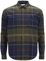 Barbour Heritage Men's Johnny Tartan Long Sleeve Shirt Moss Green