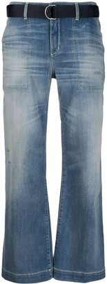Jacob Cohen Cropped Bell-Flare Jeans