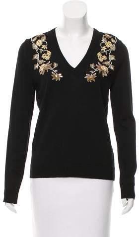 Altuzarra Embellished Wool Top