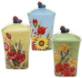 Certified International Floral Bouquet 3-pc. Ceramic Canister Set