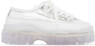MSGM White Transparent Chunky Sole Sneakers