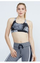 The Upside Flower Grid Lottie Crop Bra