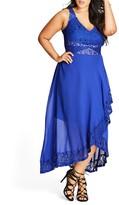 City Chic Lace Detail Maxi Dress