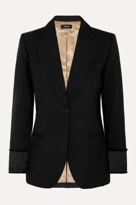 Theory Grain De Poudre Wool Blazer - Black