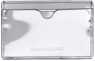 Alexander McQueen metallic logo embossed cardholder