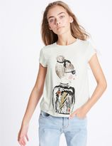 Marks and Spencer Sequin Short Sleeve Top (3-14 Years)