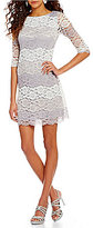 Jessica Howard Ombre Lace Shift Dress