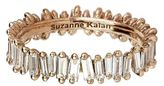 Suzanne Kalan Rose Gold Baguette Diamond Ring