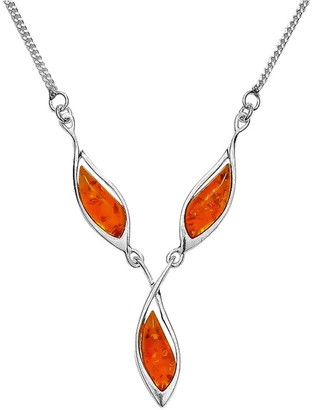Nature d'Ambre 3170566RH Women's Necklace Sterling Silver 925/1000 7.8 g 43 cm Amber