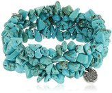 The Sak Nugget Turquoise Stretch Bracelet