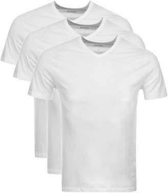 HUGO BOSS Boss Business Triple Pack V Neck T Shirts White