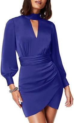 Ramy Brook Angela Choker Ruched Mini Dress