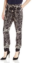 Adrianna Papell Women's Printed Skinny Pant with Back Cuff Elastic