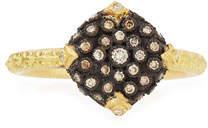 Armenta Old World Pave Diamond Cushion Ring
