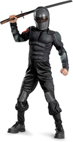 Disguise Black Snake Eyes Classic Muscle Dress-Up Set - Kids