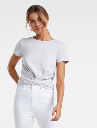 Forever New Wanda Crossover-Front Top - Grey - xxs