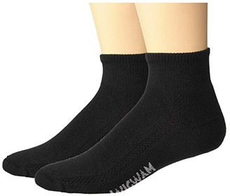 Wigwam Distance 2-Pack (Black) Crew Cut Socks Shoes