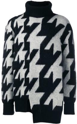 Alexander McQueen Intarsia Funnel Neck Sweater