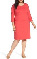 Sejour Plus Size Women's Ponte Knit Shift Dress