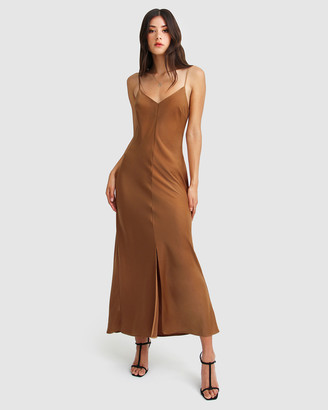 Belle & Bloom Women's Brown Maxi dresses - Slip Up Maxi Dress - Size One Size, S at The Iconic