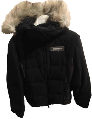 Colmar Black Fur Coat for Women