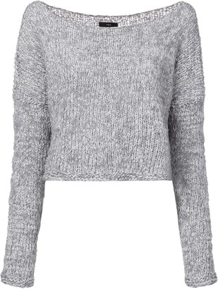 Voz Twist cropped sweater