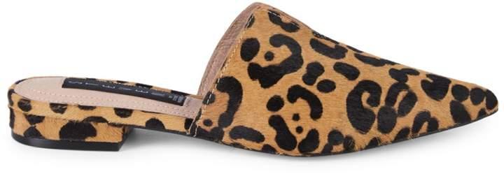 1aa10d293d3 Lissie Leopard-Print Calf-Hair Mules