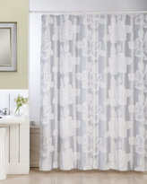 Ellen Tracy Flower Fabric Shower Curtain