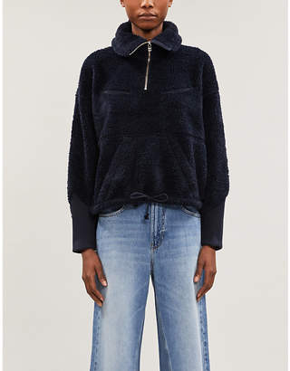 Levi's levis made & crafted Half-zip faux-shearling sweatshirt